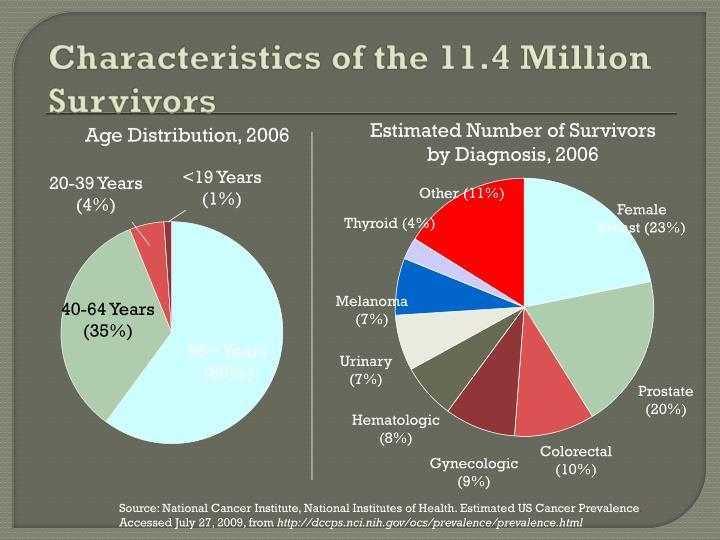 Characteristics of the 11.4 Million Survivors