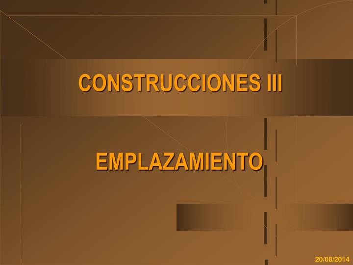 Construcciones iii