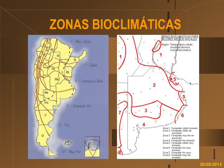 ZONAS BIOCLIMÁTICAS