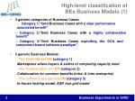 high level classification of bes business models 1