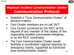 regional incident communication center communication protocol