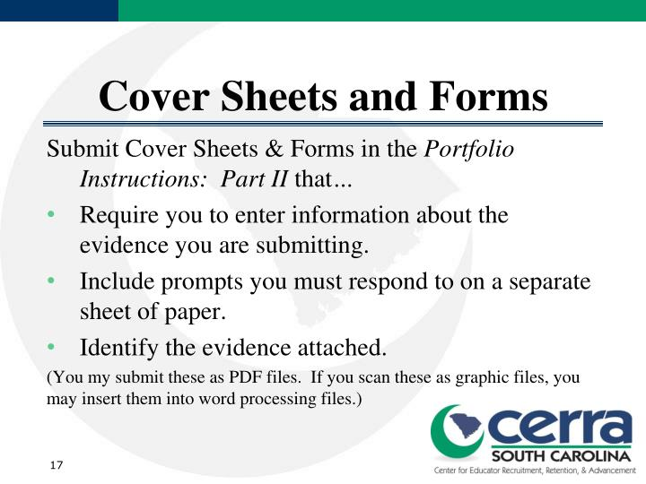 Cover Sheets and Forms