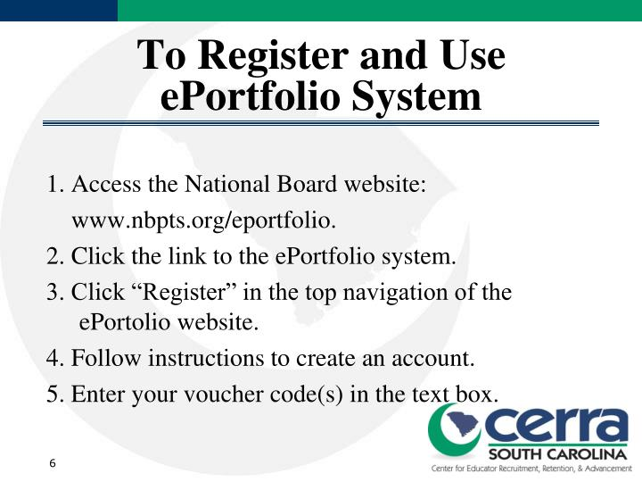 To Register and Use ePortfolio System