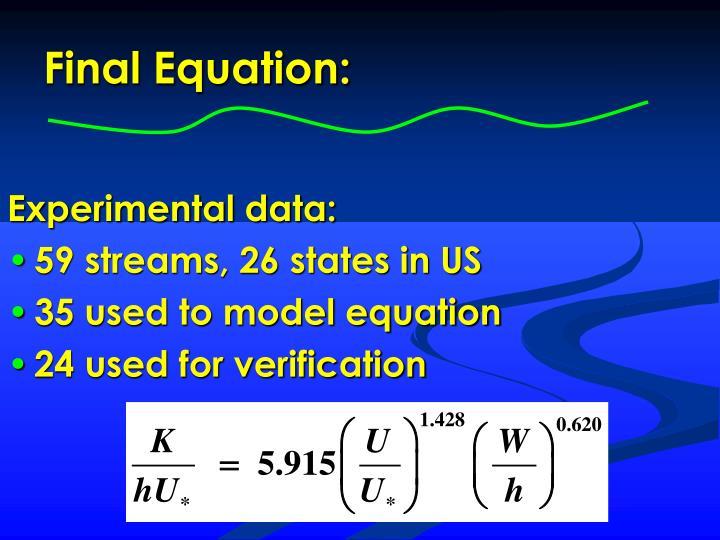 Final Equation: