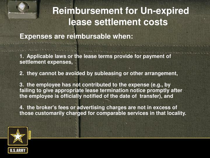 Expenses are reimbursable when: