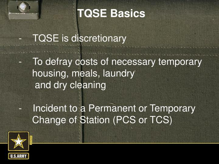 -    TQSE is discretionary