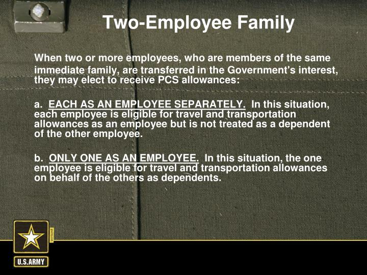 When two or more employees, who are members of the same