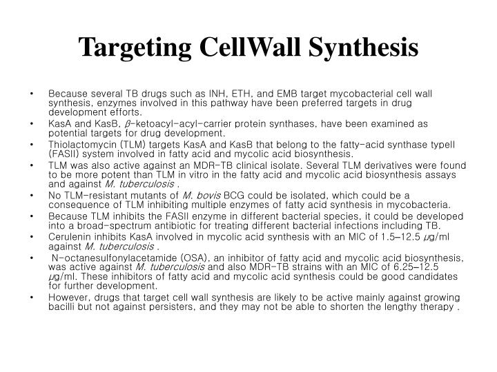 Targeting CellWall Synthesis