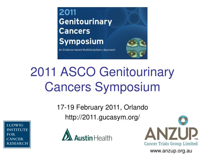 2011 asco genitourinary cancers symposium n.