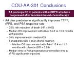 cou aa 301 conclusions
