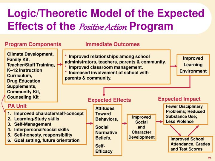 Logic/Theoretic Model of the Expected Effects of the