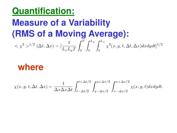 Quantification:
