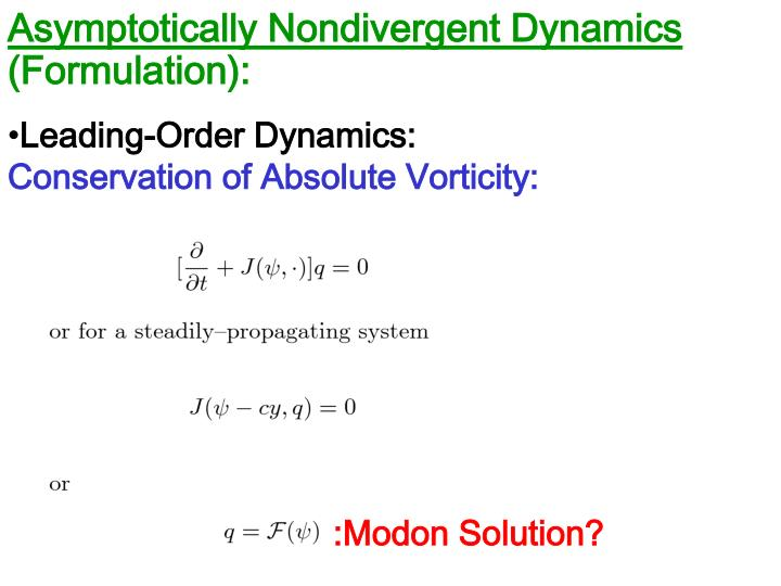 Asymptotically Nondivergent Dynamics