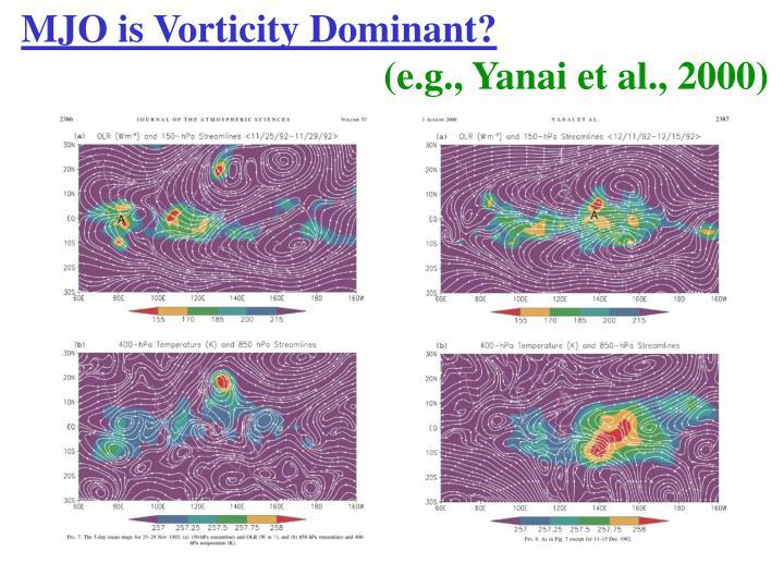 MJO is Vorticity Dominant?