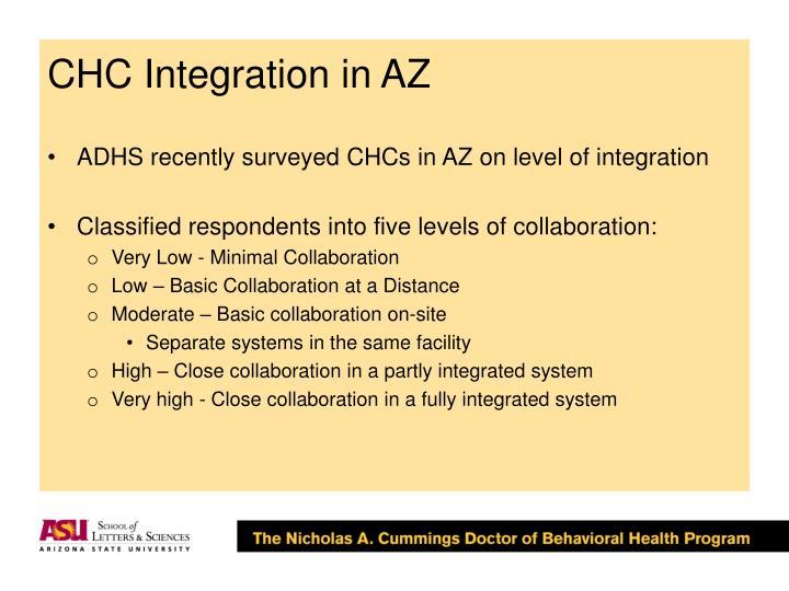 CHC Integration in AZ