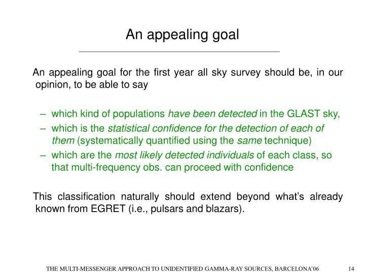 An appealing goal