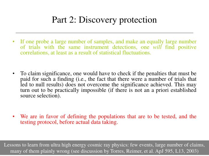Part 2: Discovery protection