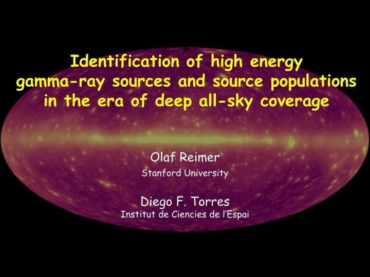 Identification of high energy