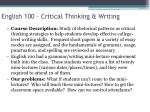 english 100 critical thinking writing