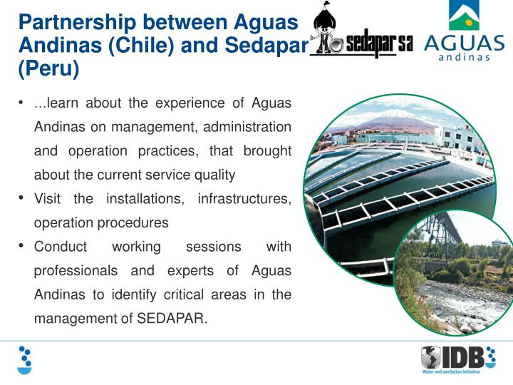 Partnership between Aguas Andinas (Chile) and