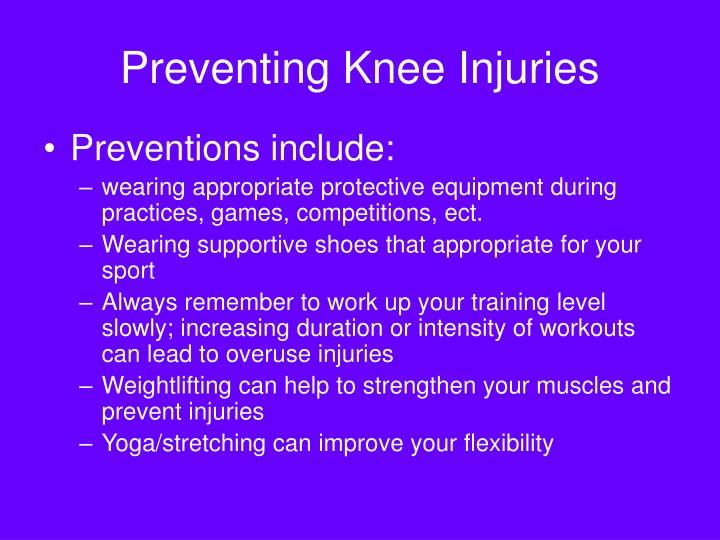 Preventing Knee Injuries