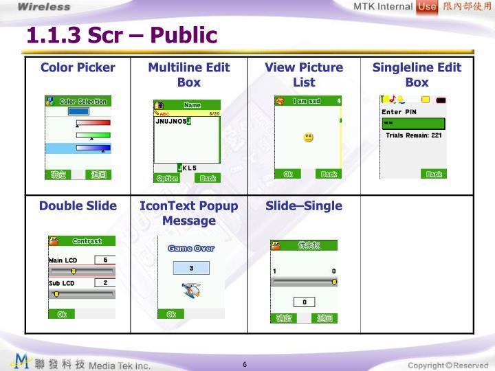 1.1.3 Scr – Public