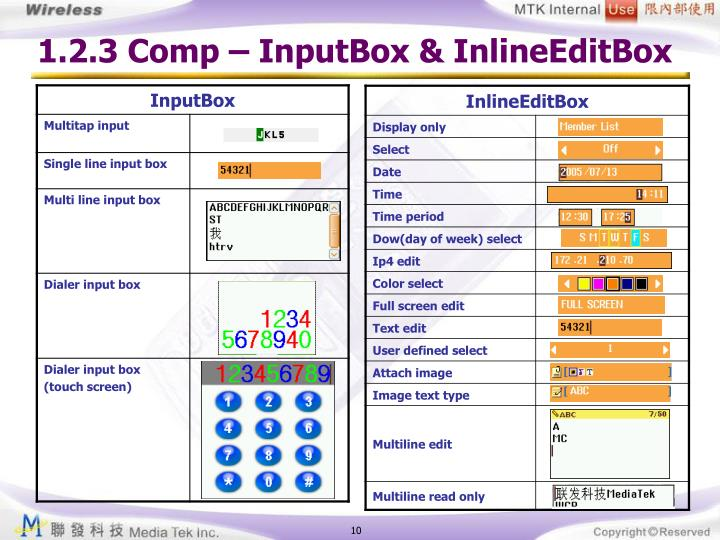1.2.3 Comp – InputBox & InlineEditBox