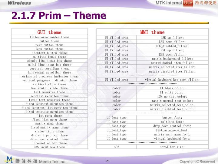 2.1.7 Prim – Theme