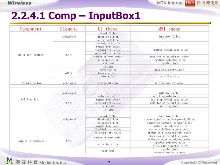 2.2.4.1 Comp – InputBox1