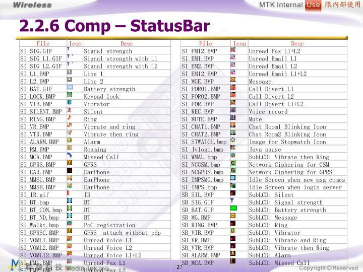 2.2.6 Comp – StatusBar