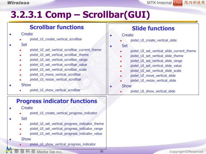 3.2.3.1 Comp – Scrollbar(GUI)