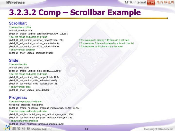 3.2.3.2 Comp – Scrollbar Example