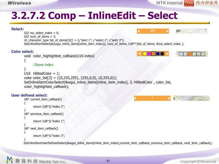 3.2.7.2 Comp – InlineEdit – Select