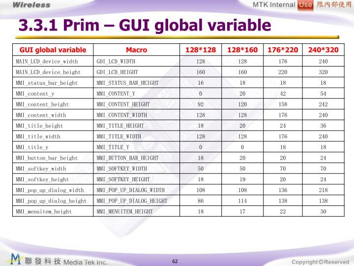 3.3.1 Prim – GUI global variable