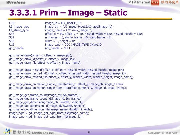 3.3.3.1 Prim – Image – Static
