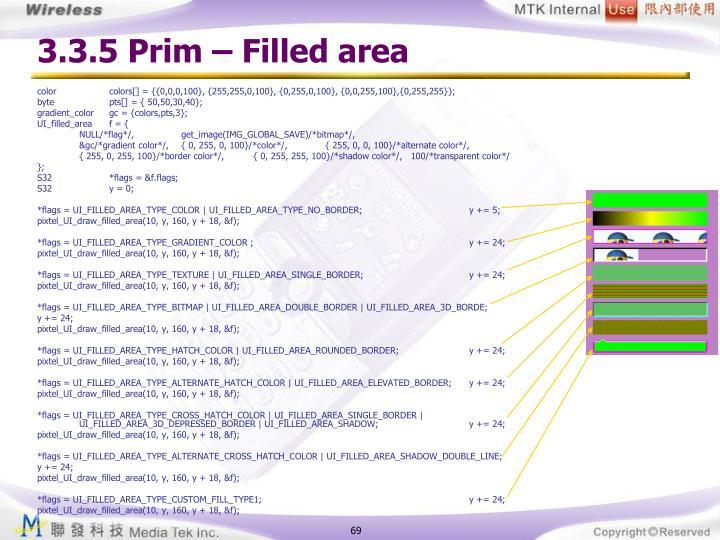 3.3.5 Prim – Filled area