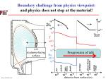 boundary challenge from physics viewpoint and physics does not stop at the material1