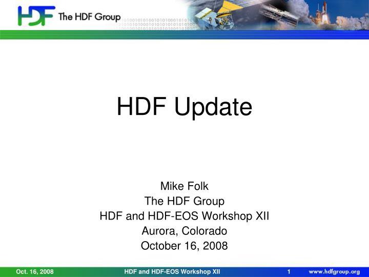 hdf update n.