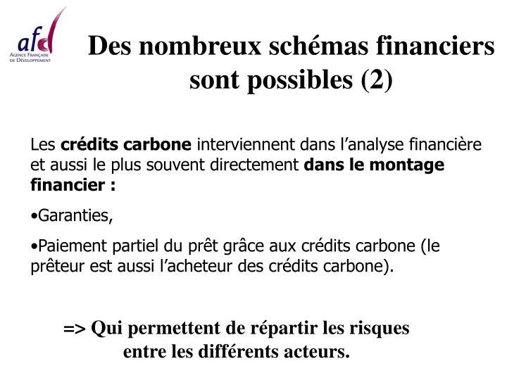 Des nombreux schémas financiers sont possibles (2)