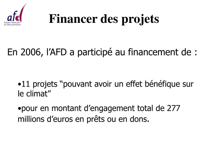 Financer des projets