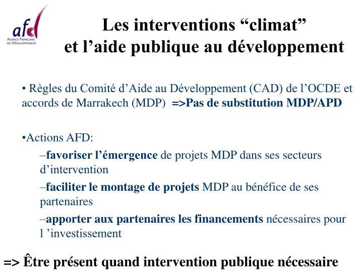 "Les interventions ""climat"""