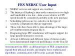 fes nersc user input