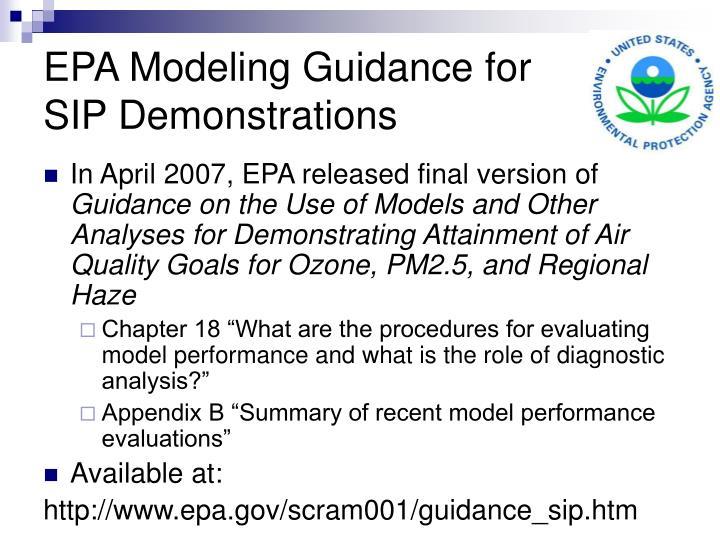 EPA Modeling Guidance for