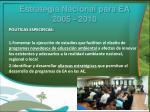estrategia nacional para ea 2005 20101