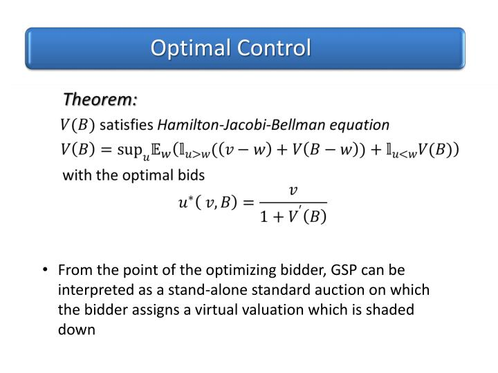 Optimal Control  Theorem