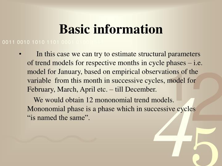 Basic information1