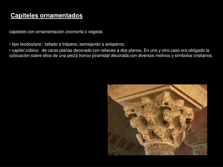 Capiteles ornamentados