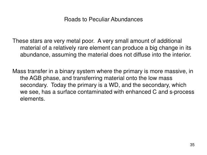 Roads to Peculiar Abundances