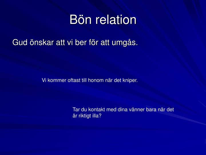 B n relation