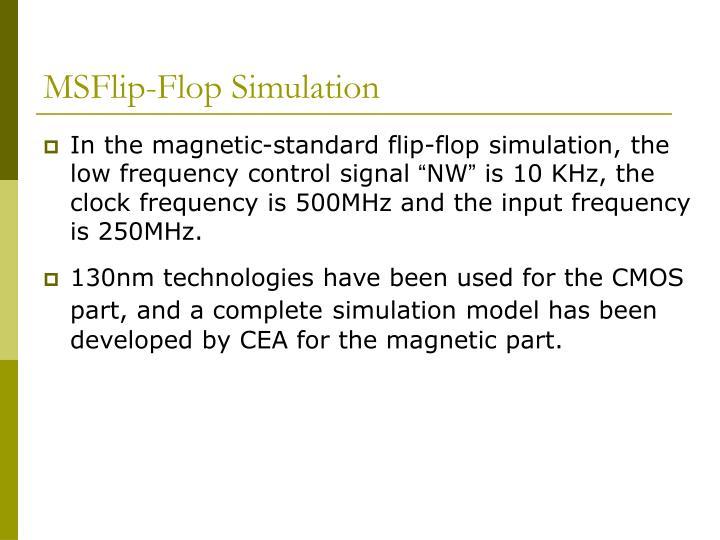 MSFlip-Flop Simulation